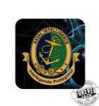 Printed Badged Coaster - Navy Intel